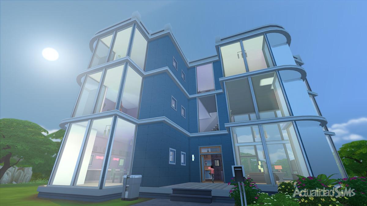 Impresiones del modo construir de los sims 4 for Casas modernas sims 4 paso a paso