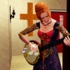 Tocando el banjo en la iglesia