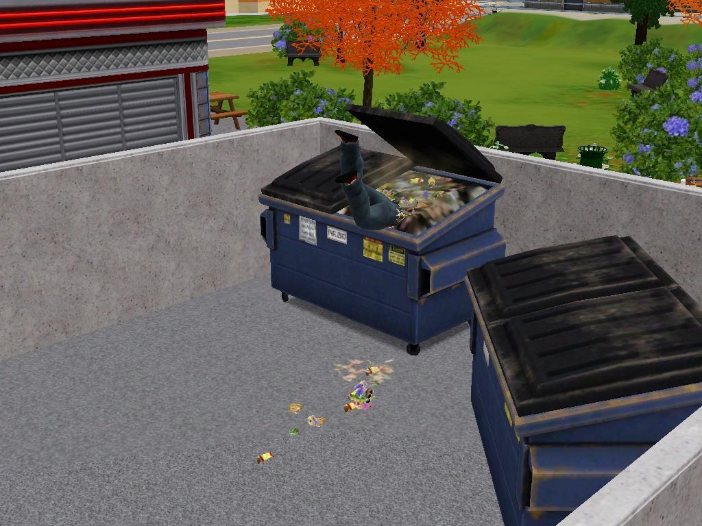 Nunca imaginarías quién gusta de rebuscar en la basura!